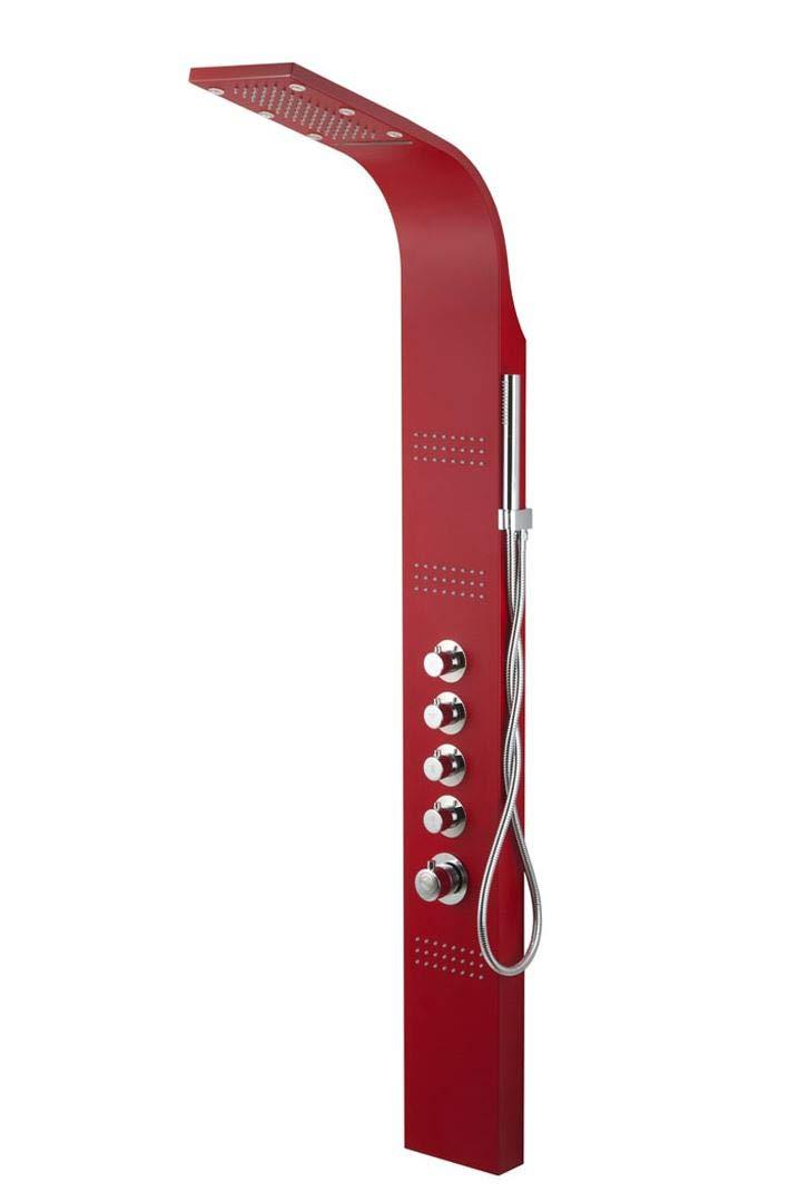 Rojo Mezclador Termostático Panel Ducha LED Lluvia Iluminar Hidromasaje: Amazon.es: Hogar
