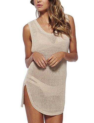 Glomeen Womens Crochet Swimwear Beach Dress Tops Bikini Swimsuit Cover up -