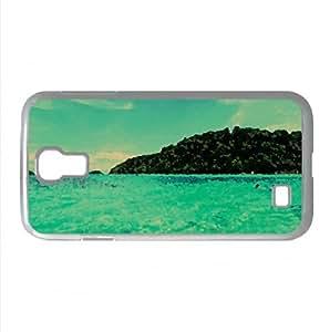 Blue Sea Watercolor style Cover Samsung Galaxy S4 I9500 Case (Summer Watercolor style Cover Samsung Galaxy S4 I9500 Case)