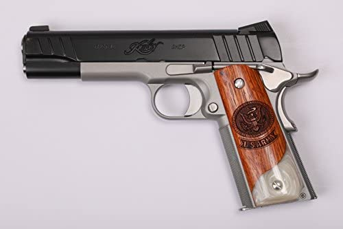 1911 u s  army custom grips rosewood & simulated pearl colt s&w kimber  remington