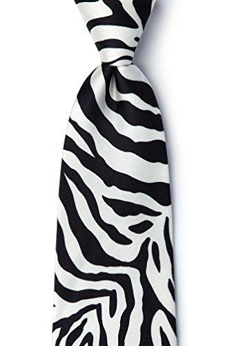 Zebra One Black Wild (Zebra Print Black Silk Tie)