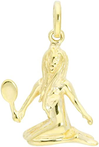 MyGold Sternzeichen Anhänger (Ohne Kette) Gelbgold 375/585 / 750 Gold (9/14 / 18 Karat) Massiv 14mm x 14mm Klein Goldanhänger Majestico MOD-06006
