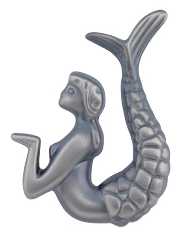 Mermaid Knobs Drawer (Atlas Homewares 190R-P 2-1/2-Inch Mermaid Knob - Right, Pewter)