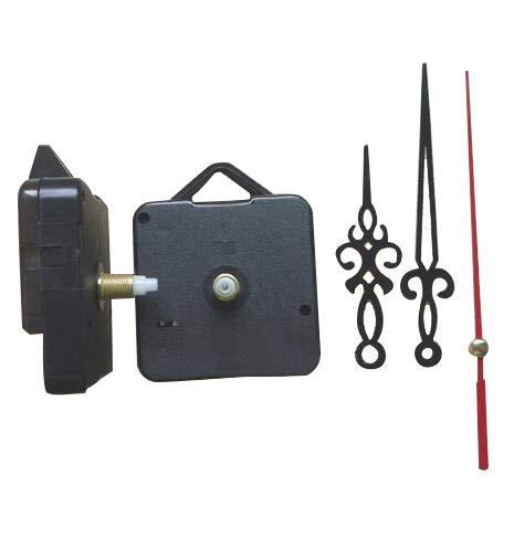 Maslin 50pcs Classic Hanging Black Quartz Clock Movement Mechanism Parts Repair DIY Essential Tools Quiet Hollow Out Hands 18.5mm Shaft