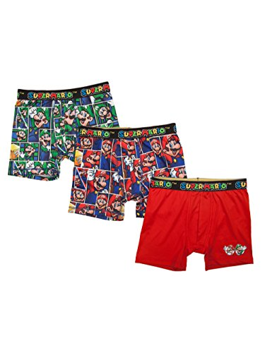 Super Mario Bros Action Underwear 3 Pack Boxer Briefs - X-Small