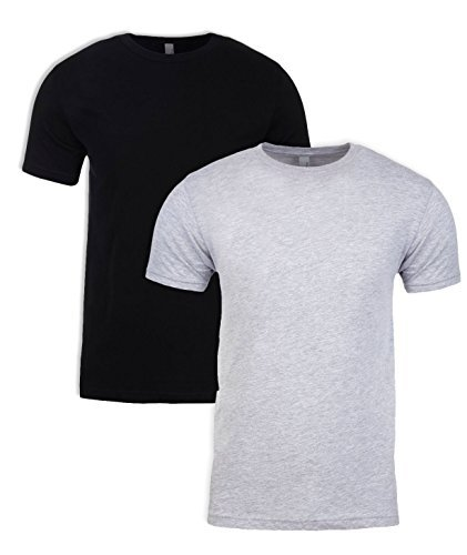 Next Level N6210 T-Shirt, Black + Dark Heather Gray (2 Pack), Large by Next Level