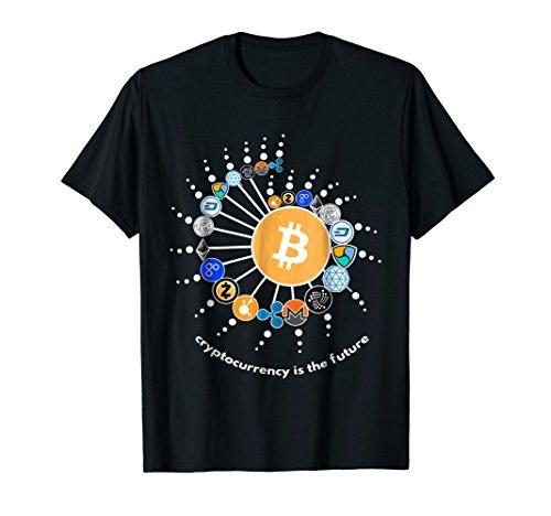 Cryptocurrency T-shirt, Bitcoin, Ethereum, Litecoin T-shirt.