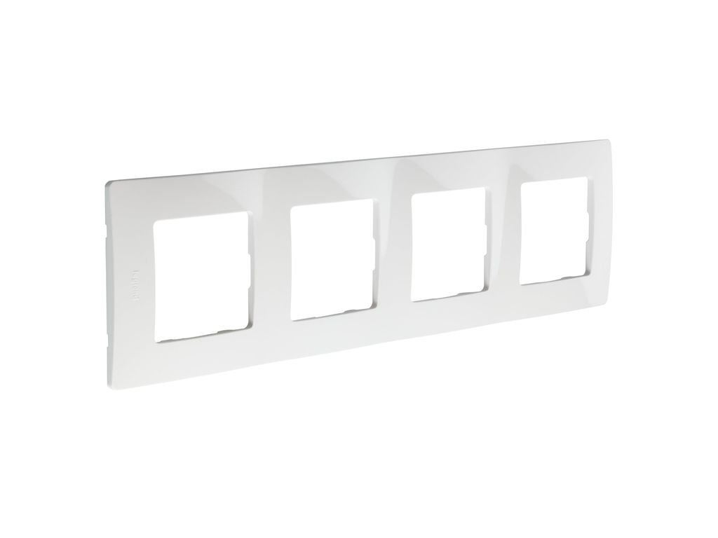 Blanco Legrand 397871 Marco Simple para 4 Interruptores