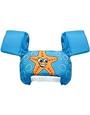 عوامة بتصميم سترة للسباحة والتدريب على السباحة، مع اساور للذراع للاطفال البنات والاولاد من عمر 2-6 سنوات