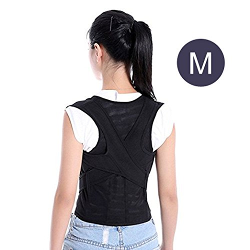 Kids Posture Corrector and Back Support Brace, RayCue Adjustable Breathable Back Shoulder Support belt for Kids and Student(M)