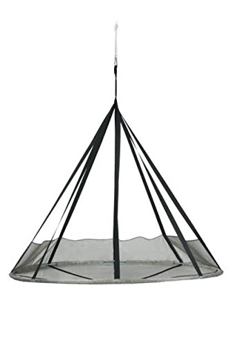 Multi Use Vinyl Seating (Flower House FHFSSVR Flying Saucer Hanging Hammock Chair with Bird & Bug Net, Silver)