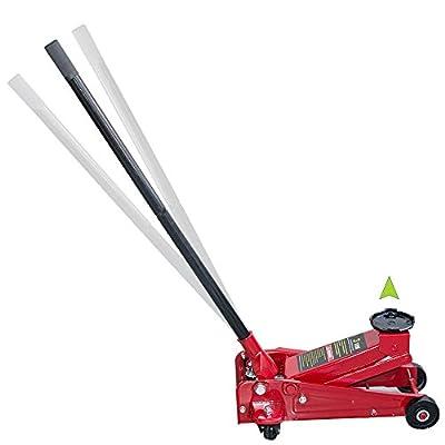 3 Ton Floor Jack vinmax Heavy Duty Steel Ultra Low Profile Lift Jack with Rapid Pump Quick Lift Show Car