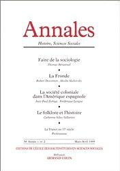 ANNALES HISTOIRE, SCIENCES SOCIALES N° 2 MARS-AVRIL 1999