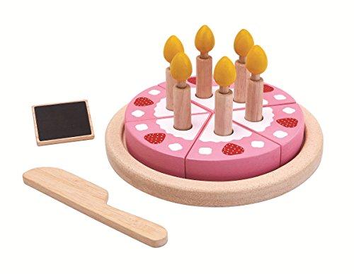 (PlanToys Wood Pretend Play Toy - Birthday Cake Set)