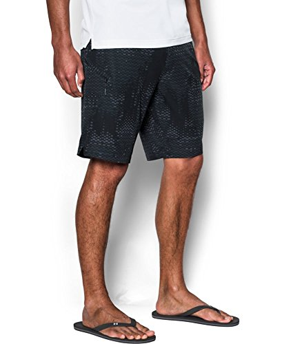 Under Armour Men's UA Stretch Printed Boardshorts 42 STEALTH GRAY