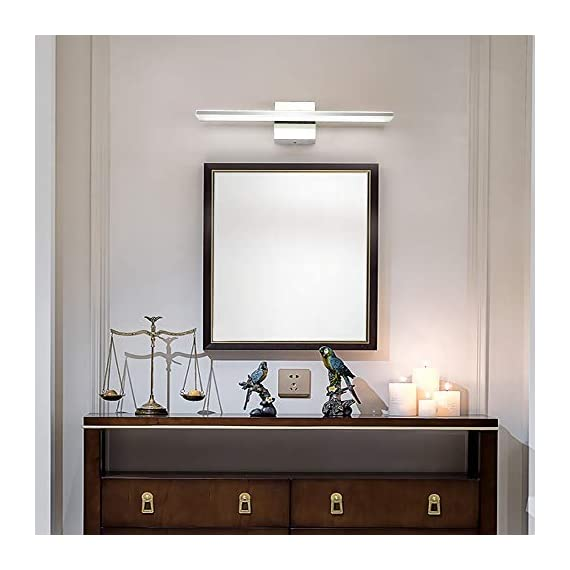 """Bathroom Vanity Light, BRIVOLART 19 Inch 12W LED Bathroom Vanity Lighting Fixtures Cool White Light 6000K - ✅[NEW DESIGN] Modern bathroom led vanity light. Ideal for using as lighting in bathrooms, bedrooms, over hospital beds, hallways, corridors, study rooms, stairways, workplaces, restaurants, hotel receptions. ✅[SPECIFICATIONS] Length :19.68"""" for 12W, distance from the wall: 3.22"""". Color temperature:6000K, Non-dimmable. ✅ [BEETER LIGHTING]: HIGH transmittance with acrylic cover, gives you perfect spotlight when you makeup, shave, read or display products. Stainless steel body with acrylic plating surface is durable, safe and easy to clean. - bathroom-lights, bathroom-fixtures-hardware, bathroom - 41VGXqsEeHL. SS570  -"""