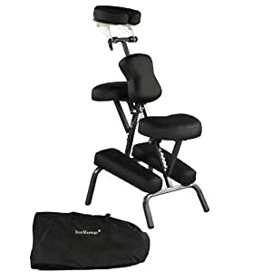 """Black New BestMassage 4"""" Portable Massage Chair Tattoo Spa Free Carry Case 8B"""