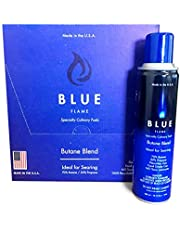 Blue Flame - 70/30 Blend - N-Butane Mix Food-Grade Triple Refined 11X Filtered Butane Gas (1 Box -Cans 12) (Cannot Ship to P.O Boxes)