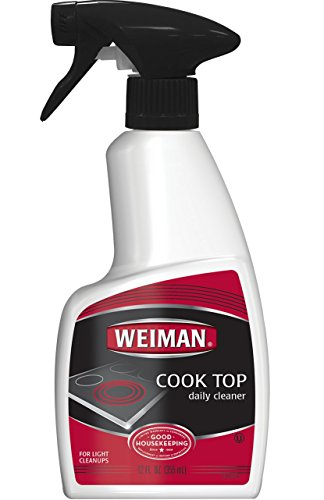 Weiman Daily Cooktop Heavy Duty Cleaner & Polish -  Shines and Protects Glass/Ceramic Smooth Top Ranges with its gentle formula - 12 Fl. Oz.