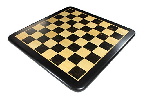 StonKraft Wooden Chess Board Without Pieces for Professional Chess Players - Appropriate Wooden & Brass Chess Pieces Chessmen Available Separately by Brand (21x21 Ebony) ()