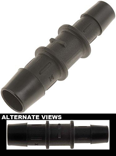 APDTY 58192 Heater Hose Connectors - 1/2 In. X 5/8 In. Connector - Plastic