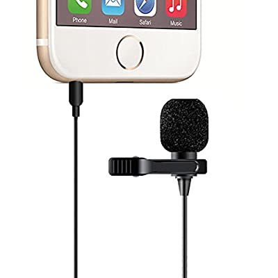 MAONO Lapel Microphone, Hands Free Clip-on Lavalier Mic for iPhone, Android, Samsung, Sony, Laptop, Tablet, Smartphone by MAONO