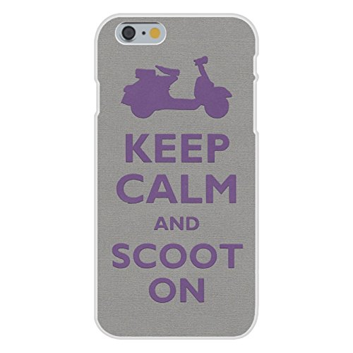Apple iPhone 6 Custom Case White Plastic Snap On - Keep Calm and Scoot On Scooter Custom Lightweight Wheelchair