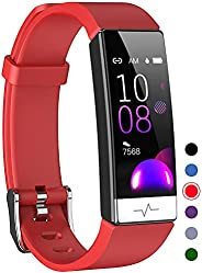 Mgaolo Fitness Tracker with Blood Oxygen SpO2 Blood Pressure Heart Rate Sleep Monitor for Men Women,Waterproof