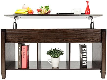 home, kitchen, furniture, living room furniture, tables,  coffee tables 3 image HomVent Lift-up Top Coffee Table,Wood & Metal in USA