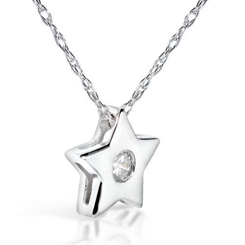 Pendentif étoile diamant en platine
