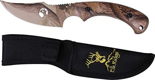 Elk Ridge TA-28GC Fixed Blade Knife 8-Inch Skinner Designed by Tom - Skinner Knife Elk