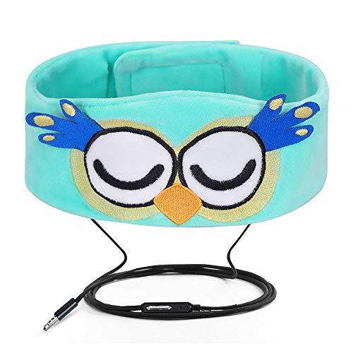 FYY Wired Kids Headphones Ultra Thin Speakers Easy Adjustable Soft Fleece Headband Headphones Children Owl