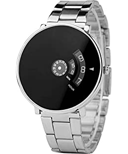 GLAMEXY Analogue Black Round Dial Men's Watch