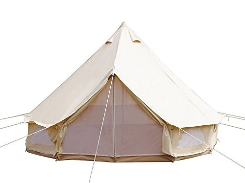 Home & Garden 20ft(6M) Bell Tent Canvas Tent Cotton Camping Glamping Large 10-12person use