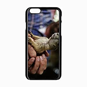 iPhone 6 Black Hardshell Case 4.7inch rodent hands claws gopher Desin Images Protector Back Cover