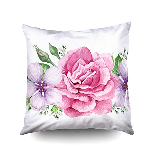 - KIOAO Pillowcase Standard 18X18Inches Square for Cushion Home Decorative Vintage Damask Pattern Classical Luxury Texture Wallpapers Wrapping Pillow Covers Printed with Both Sides of Cotton