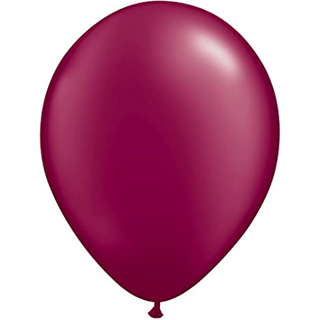 Quarubber 11 Inch Round Plain Rubber Balloon - Pearl Burgundy Qualatex FBA_43769
