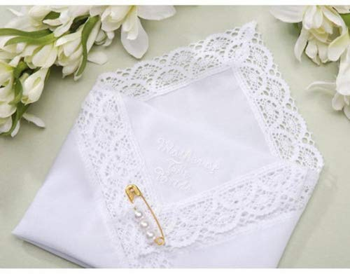 4 Wedding Party Handkerchief's Mother of the Bride the Groom and Bride and -