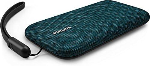 Philips Everplay BT3900A - Altavoz Bluetooth (Potente y portátil, Resistente al Agua, con micrófono, Correa USB) Color Azul