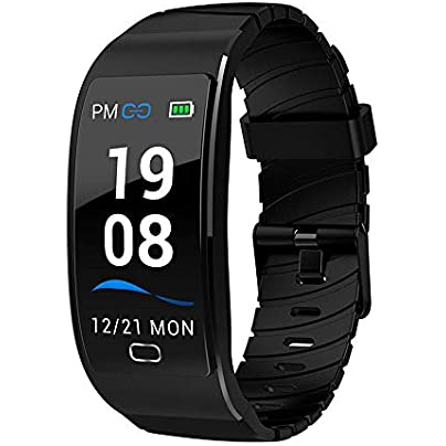 LDDCUTE Tracker for Heart Rate Monitors Step Counter Activity Trackers Smartwatches Bracelet IP68 Waterproof Bluetooth Pedometer Wristband with Sleep Monitor for Android amp IOS Smartphone Black Estimated Price -