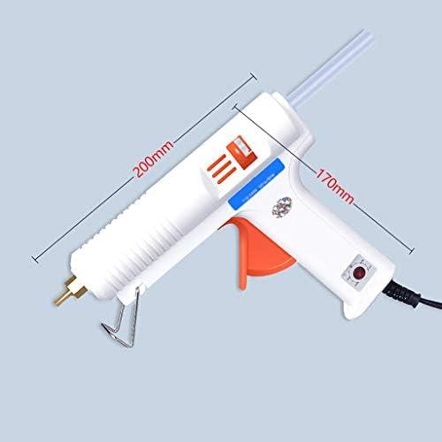 Minmin DIY学校やオフィスのプロジェクトの修理やメンテナンスのプロジェクトに適した60分の30〜90透明スティックのり、ホットメルトグルーガン、150Wヘビーデューティー、温度銃、白 ミニ (Color : 90 sticks)