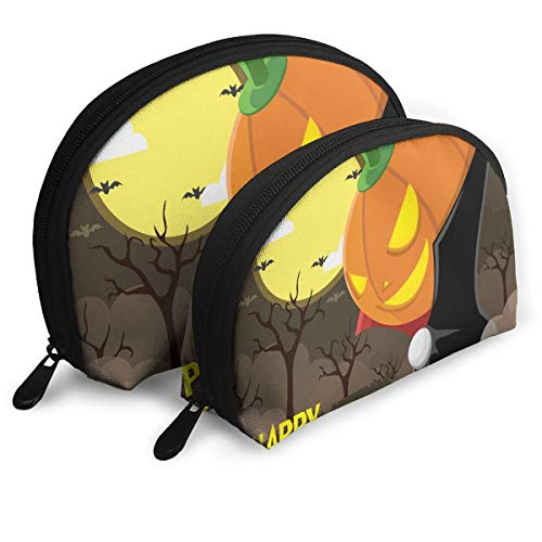 Pouch Zipper Toiletry Organizer Travel Makeup Clutch Bag Halloween Portable Bags Clutch Pouch Storage Bags]()