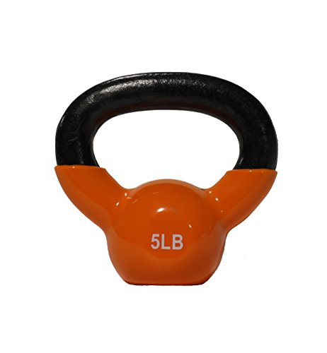 DWC Kettlebell for Strength Training, Economy Price for Professional Quality, Vinyl Coated (5 LB)