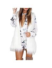 Gillberry Women Warm Outwear Sleeveless Slim Vest Faux Fur Waistcoat Jacket Coat