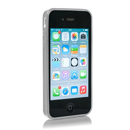 Macoon Young MS0554TRA Soft Hülle hauch dünn SecondSkin für Apple iPhone 4/4S transparent