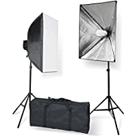 StudioFX 800W Photography 20x28 EZ Softbox with E27 Socket Light Lighting Kit (Set of 2) by Kaezi Photo H851S2