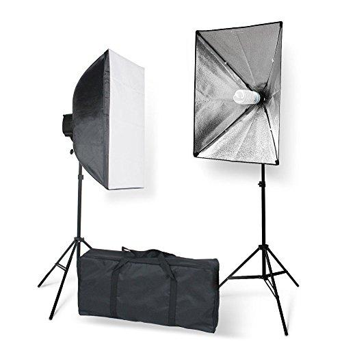 StudioFX 800W Photography 20''x28'' EZ Softbox with E27 Socket Light Lighting Kit (Set of 2) by Kaezi Photo H851S2 by StudioFX