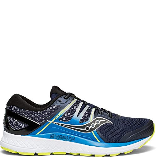 Saucony Men's Omni ISO Shoes, Navy/Blue/Citron, 10