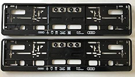 Audi Kennzeichenhalter Audi Tradition 2er Set Atra88451 Auto