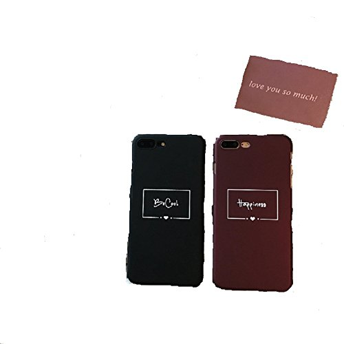 Chige IPhone 6/6s/7 Plus Case Couple Word TPU Plastic Designer Case Cover For Teens Girls Boys Women ,Couple Models Phone Case for Iphone 6/6s Plus - Maroon Leather Ring